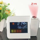 Weather Forecast Projection Digital Alarm Clock Snooze Display w/ LED Backlight