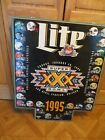 HUGE LITE BEER NFL SUPER BOWL FOOTBALL TEAM HELMETS 1995 SIGN,FOOTBALL & BEER