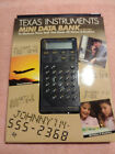 TEXAS INSTRUMENTS MINI DATA BANK & CALCULATOR TI-2700 New old Stock