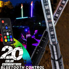 3FT 2PCS RGB LED Whip Light Flag Antenna Polaris ATV UTV Off Road Remote Control