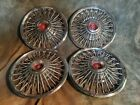 4 OEM 67-69 FORD MUSTANG WIRE HUB CAPS WHEEL COVERS RARE