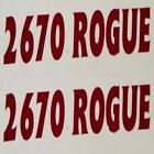 CRUISERS YACHT 2670 ROGUE MAROON BOAT DECALS (PAIR)