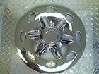 "14"" Chrome Trailer Wheel Hub Cap Rim Covers SHARP!!"