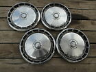 """1971-1973 FORD MUSTANG FoMoCo EXTERIOR USED HUBCAPS WHEEL COVERS 14"""" LOT (4)"""