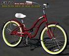 "Aluminum Frame, Fito Brisa Alloy 1-speed Women's 26"" Beach Cruiser Bike burggn"