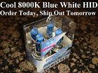 H4 Suzuki Boulevard M50 Black 2005 2006 2007 2008 2009 2010 8000K Blue HID Bulbs
