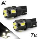 2X T10 6000K White High Power 2538 Chip SMD LED Interior Lights Bulbs