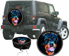 Rottweiler Dog Motif With Funny Saying Car Jeep Truck Spare Reference