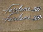 NOS OEM Ford 1960 Fairlane 500 Fender Ornaments Emblems Scripts Badges