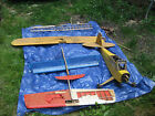 PIPER CUB PLANE AND ASSORTED WIRE PLANES USED SOME PARTS MISSING