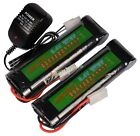 2pcs 8.4V NiMH 3800mAh Rechargeable Battery Pack For RC Airsoft + Charger