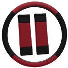 Steering Wheel Cover for Auto Car Truck Van SUV Red Black Custom Mesh Protector