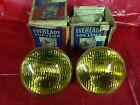 NOS AMBER FOG / DRIVING LIGHTS EVEREADY 6VOLT