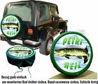 Pike Fisher Fishing Fish Car Jeep Spare Wheel Cover Wheel Cover