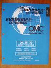 NEW - Factory Parts Manual - 1998 Johnson & Evinrude 20, 25 & 30hp Remote Models