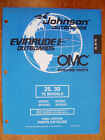 NEW - Factory Parts Manual - 1998 Johnson & Evinrude 25 & 30hp TE Models