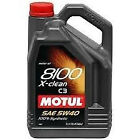 MOTUL 102051 8100 5 Liter 5W40 X-Clean Engine Oil 1.3 Gallon x 1 BOTTLE