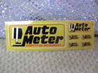 Racing Car Sticker, Auto Meter, 6 stickers in 1