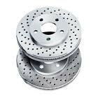 Brake Rotors [2 Front] POWERSPORT *DRILLED ONLY* DISC BH13407