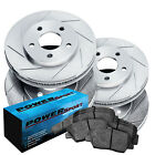 Brake Rotors [Front+Rear Kit] POWERSPORT *SLOTTED ONLY* + CERAMIC PADS BY09009