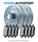 (FRONT + REAR) POWER DRILLED SLOTTED PLATED BRAKE ROTORS + CERAMIC PADS 56580PK