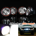 """4PC 7"""" 55W 6000K XENON HID OFF ROAD LIGHTS ROOF RACK/GRILLE/BULL BAR FLOOD LAMPS"""