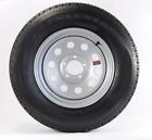 Radial Trailer Tire & Rim w/Caps & Lugs ST175/80R13 13 5 Lug Silver Modular