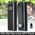 16GB Mini Voice Sound Activated Mic Digital USB Audio Recorder MP3 Player Clip