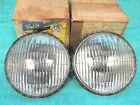 "1948-54 CHEVY PONTIAC OLDS  5-3/4""  6 VOLT  CLEAR FOG LIGHT BULBS  PAIR  NOS 317"