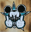 25cm Bad Mickey Turquoise OLDSCHOOL STICKER BIKER CHOPPER STICKER BOMB