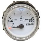 Larson Boat Temperature Gauge 2266-C091   Faria GPC091A Silver / White