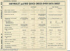 CHEVROLET and REO QUICK CHECK-OVER DATA SHEET NO. 39 NEWNES