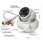 Microseven HD1080P POE Outdoor 150° View IP Camera Free Cloud works with Alexa