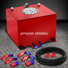 8 GALLON/30.5L RED ALUMINUM FUEL CELL GAS TANK+LEVEL SENDER+NYLON FUEL LINE KIT