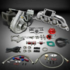 T04 .63AR 400+HP BOOST 8PC TURBO CHARGER+MANIFOLD KIT FOR MIT MIRAGE 1.8L 4G93