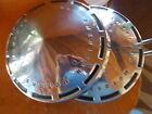 TWO American Motors Dog Dish Type Hubcaps Chrome AMC Rambler Matador etc.