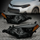 FOR 2014-2016 TOYOTA COROLLA SMOKED HOUSING AMBER SIDE PROJECTOR HEADLIGHT/LAMP