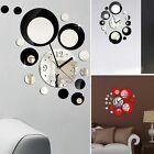 Luxury Circle 3D Mirror Effect Wall Clock Sticker Home Modern DIY Decor Gift HM
