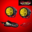 PIAA LP270 2.75 Inch LED Ion Yellow Driving Light Kit 22-73272