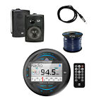 Dual MP3 USB Bluetooth Receiver With Speakers, Speaker Wire and Marine Antenna