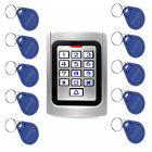 RFID 125Khz EM Card Door Access Controller Waterproof Metal Case+10*RFID Keyfobs