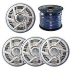 "2 x 6.5"" Marine Speakers, Enrock Marine Spool of Speaker Wire"