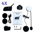 4x 1200m 6Riders BT Motorcycle/bike Interphone Bluetooth Helmet Intercom Headset