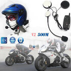 2*V2 500m Bluetooth Interphone Motorcycle Bicycle Hiking Helmet Intercom Headset