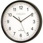 London Clock Co Black Radio Controlled Wall Clock
