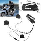 1000M Interphone Bluetooth Motorcycle Helmet Intercom FM Radio Headset +Mic Z1U9