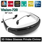 VISION720 Widescreen 3D Stereo Virtual Video Game Glasses Eyewear w/Headset V7V4