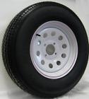 "Trailer Rim & Tire #375 530-12 5.30-12 5.30x12"" LRB 4 Bolt Hole White Modular"