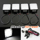 4PC 27W 9 LED SQUARE OFF-ROAD SPOT LIGHTS ATV/UTV/WORK/BOAT/4WD LAMPS + SWITCH