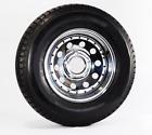 "Trailer Wheel & Tire 377 ST205/75R14 205/75 R 14"" LRC 5 Bolt Hole Modular Chrome"